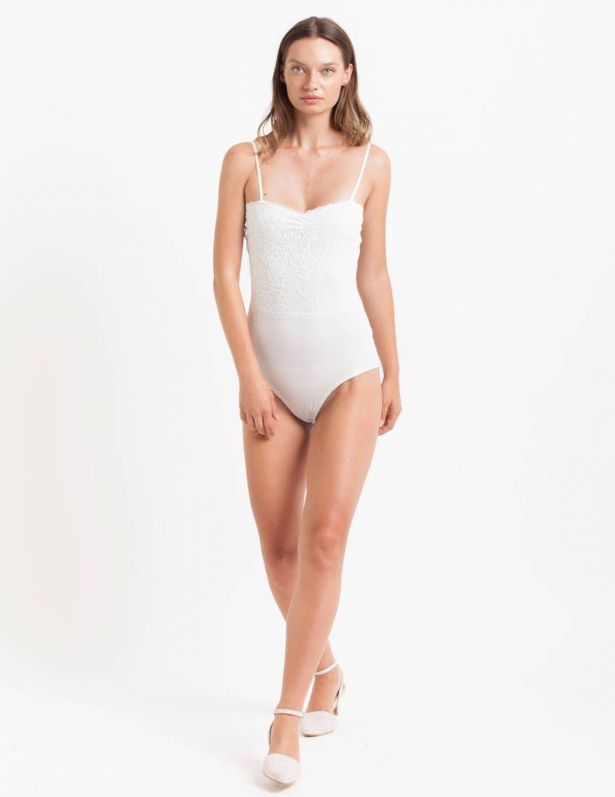 Alef Alef | אלף אלף - בגדי מעצבים | בגד גוף Roso לבן