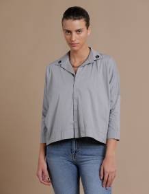 Alef Alef | אלף אלף - בגדי מעצבים | חולצת Alison Nit אפור