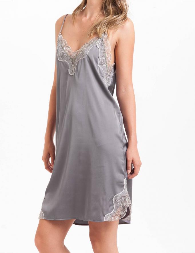 Alef Alef | אלף אלף - בגדי מעצבים | שמלת Palla אפור/לבן