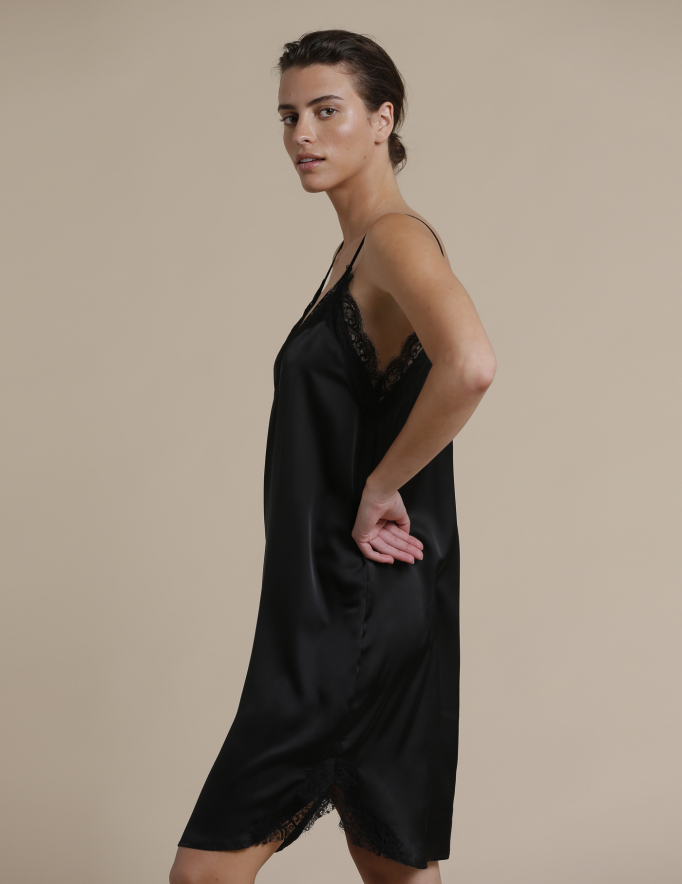 Alef Alef   אלף אלף - בגדי מעצבים   שמלת Palla שחור