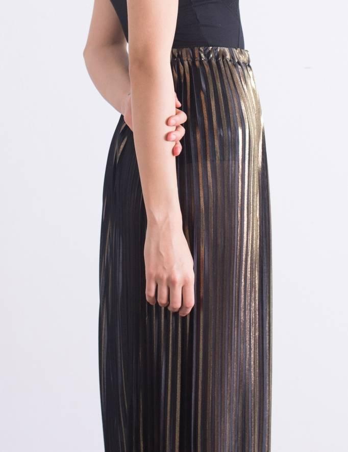 Alef Alef | אלף אלף - בגדי מעצבים | חצאית Cameron שחור זהב