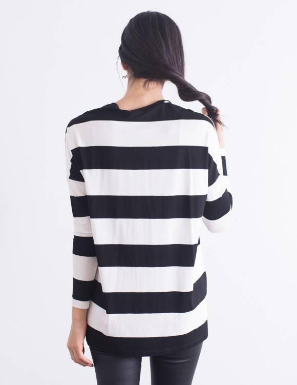 Alef Alef   אלף אלף - בגדי מעצבים   חולצת Desiree פסים
