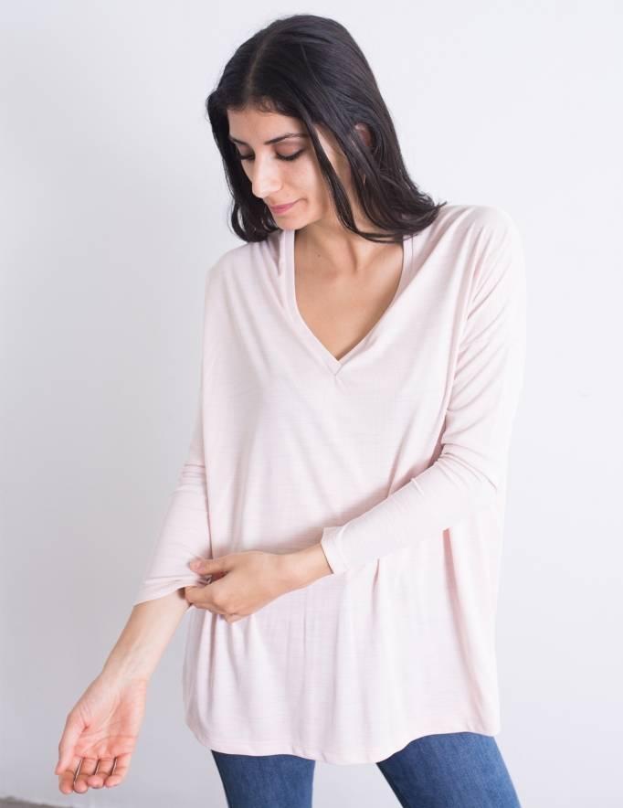 Alef Alef | אלף אלף - בגדי מעצבים | חולצת Desiree ורוד בהיר