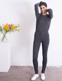 Alef Alef | אלף אלף - בגדי מעצבים | טייץ Ronch שחור כסף