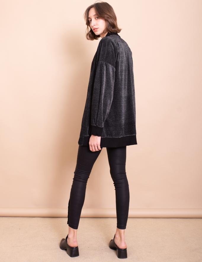 Alef Alef | אלף אלף - בגדי מעצבים | עליונית Elena שחור כסף