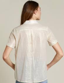 Alef Alef   אלף אלף - בגדי מעצבים   חולצת Lewis זהב מטאלי