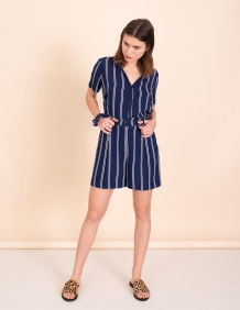 Alef Alef | אלף אלף - בגדי מעצבים | מכנסי Clark כחול פס לבן