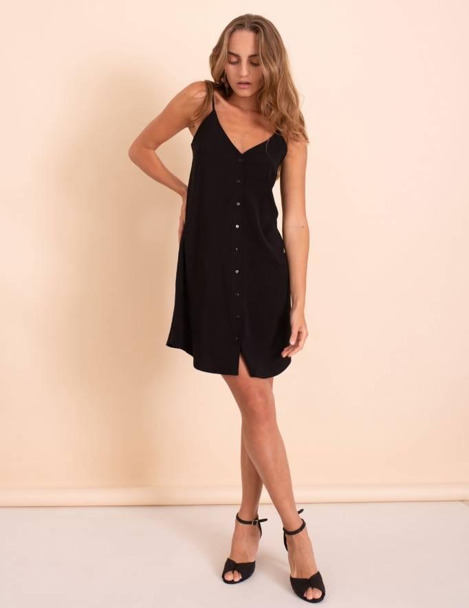 Alef Alef   אלף אלף - בגדי מעצבים   שמלת Duran שחור
