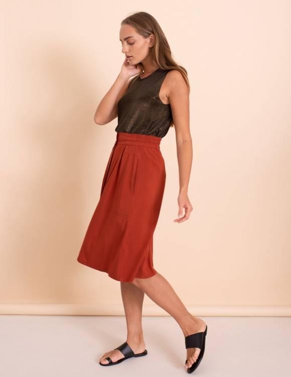 Alef Alef | אלף אלף - בגדי מעצבים | חצאית Jane חמרה