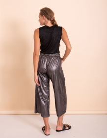 Alef Alef   אלף אלף - בגדי מעצבים   מכנסי kevin  שחור כסף