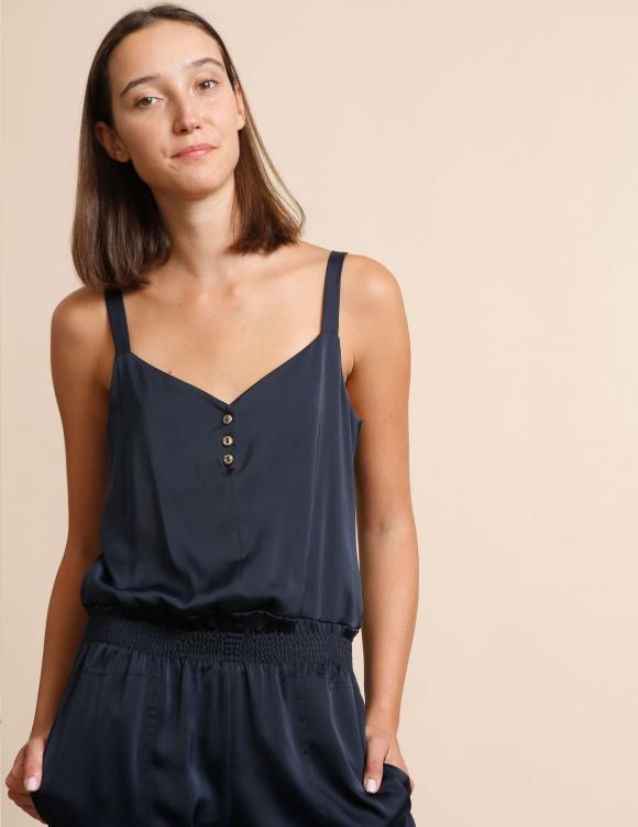 Alef Alef | אלף אלף - בגדי מעצבים | אוברול Roxette נייבי