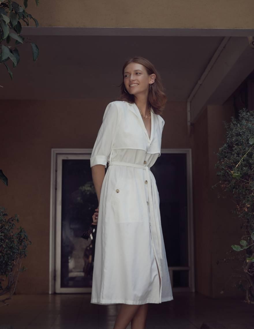 Alef Alef | אלף אלף - בגדי מעצבים | שמלת Rosa לבן