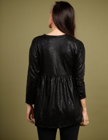 Alef Alef | אלף אלף - בגדי מעצבים | חולצת Ina | שחור נחש