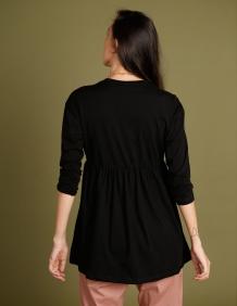 Alef Alef   אלף אלף - בגדי מעצבים   חולצת Ina  שחור