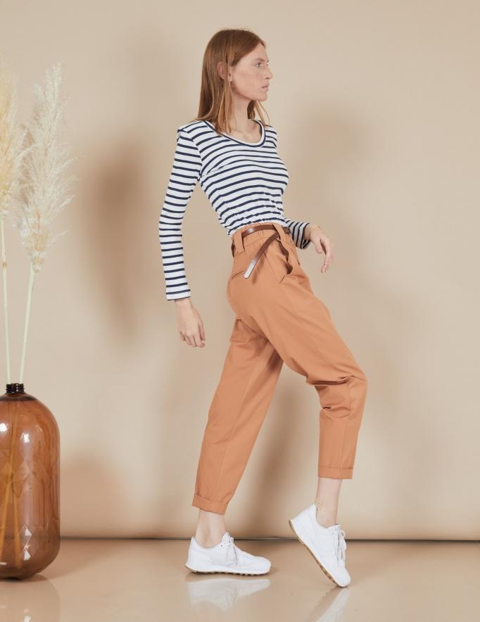 Alef Alef | אלף אלף - בגדי מעצבים | מכנסי Curie קאמל