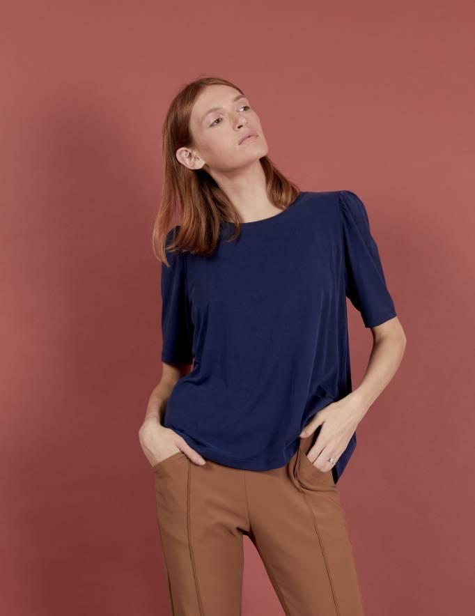 Alef Alef | אלף אלף - בגדי מעצבים | חולצת Diana נייבי