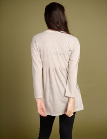 Alef Alef | אלף אלף - בגדי מעצבים | חולצת Ina | אפור מלאנז'
