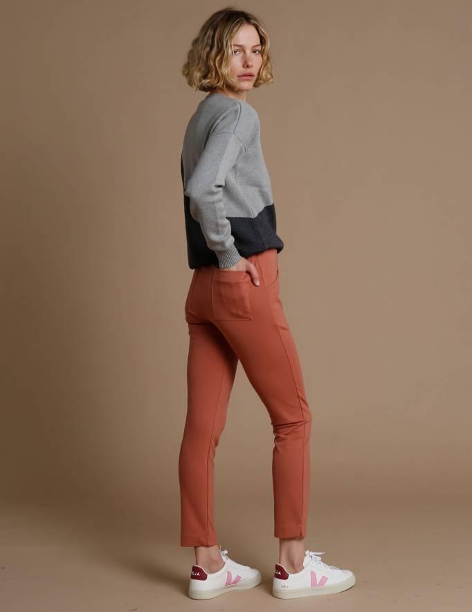 Alef Alef | אלף אלף - בגדי מעצבים | מכנסי Tate אפרסק