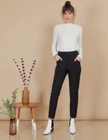 Alef Alef   אלף אלף - בגדי מעצבים   מכנסי Coco   שחור