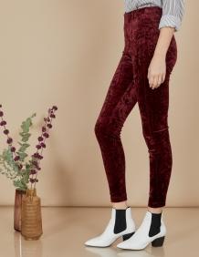 Alef Alef | אלף אלף - בגדי מעצבים | מכנסי Ang | בורדו