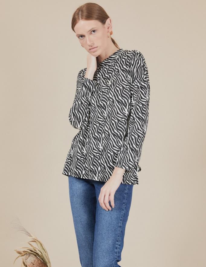 Alef Alef | אלף אלף - בגדי מעצבים | חולצת Ada | זברה