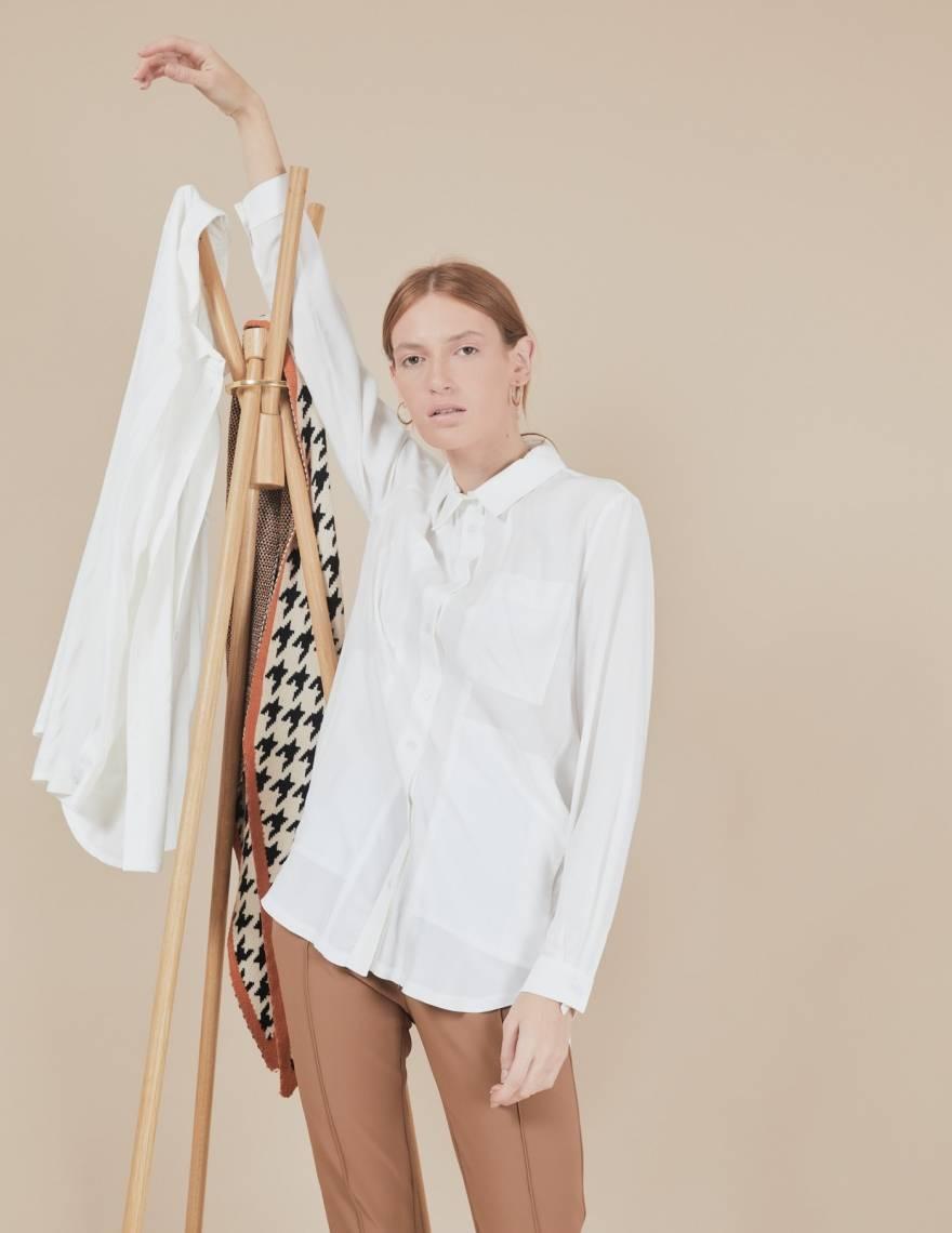 Alef Alef | אלף אלף - בגדי מעצבים | חולצת Joan | שמנת