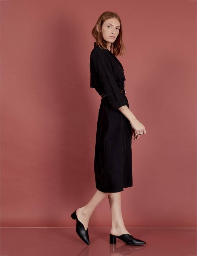 Alef Alef   אלף אלף - בגדי מעצבים   שמלת Rosa שחור