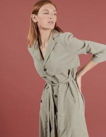 Alef Alef   אלף אלף - בגדי מעצבים   שמלת Rosa חאקי