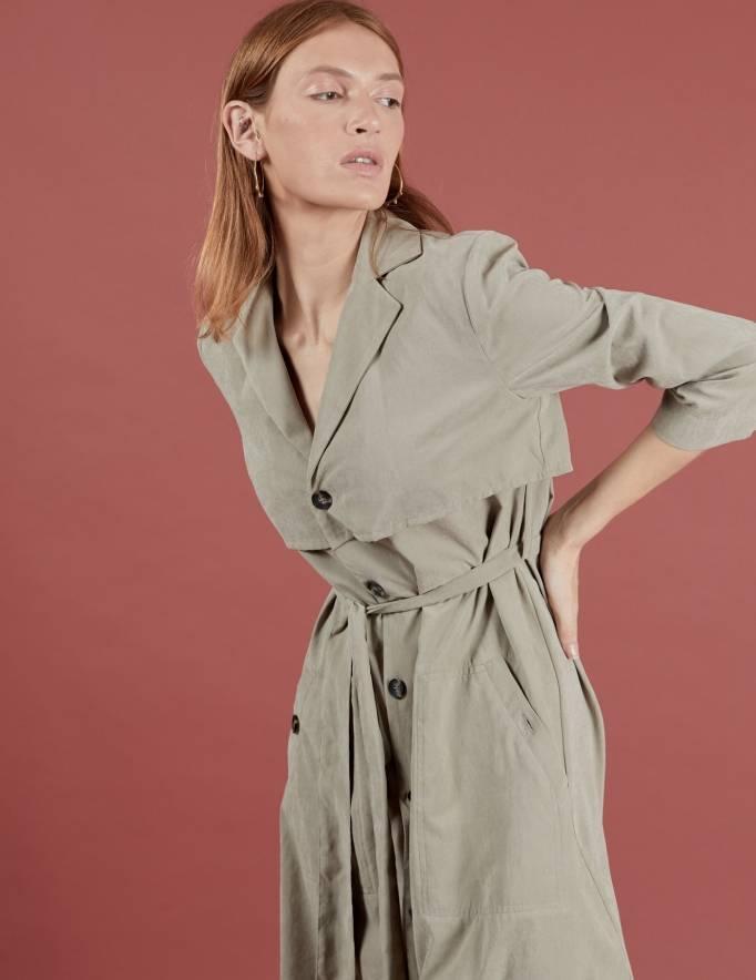 Alef Alef | אלף אלף - בגדי מעצבים | שמלת Rosa חאקי