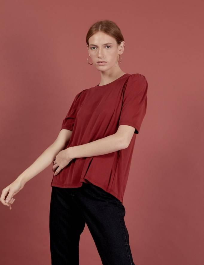 Alef Alef | אלף אלף - בגדי מעצבים | חולצת Diana בורדו