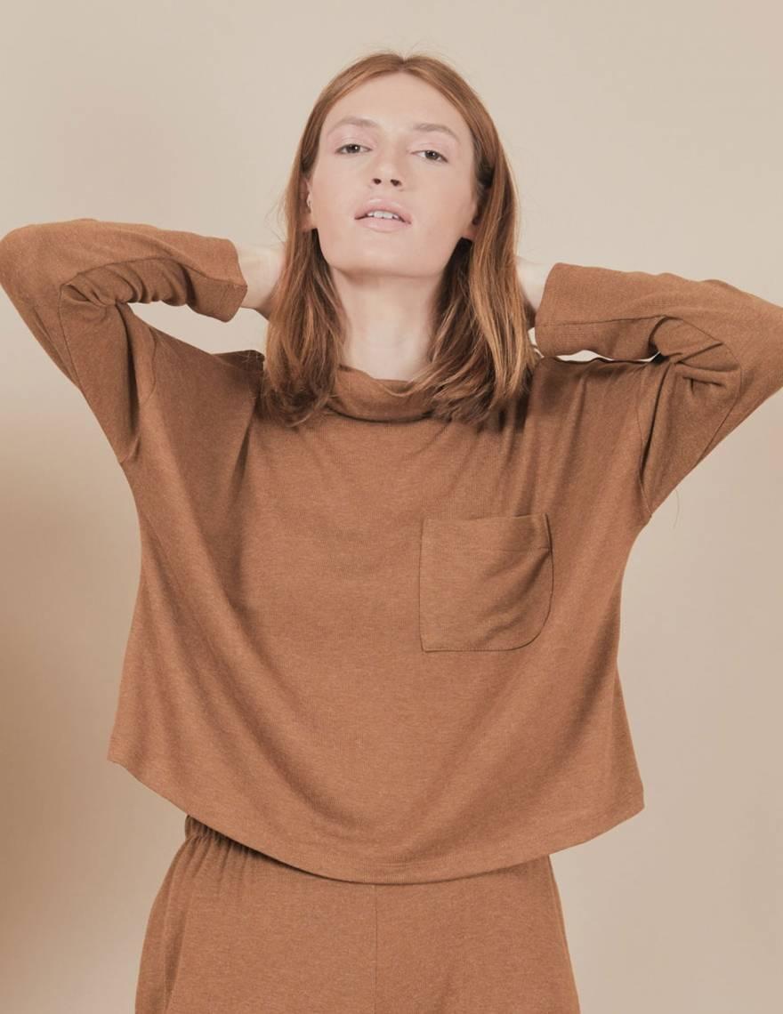 Alef Alef | אלף אלף - בגדי מעצבים | חולצת Mae | קאמל