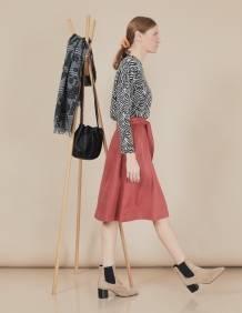 Alef Alef | אלף אלף - בגדי מעצבים | חצאית Florence פסים בורדו