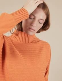 Alef Alef   אלף אלף - בגדי מעצבים   סוודר Pedro כתום