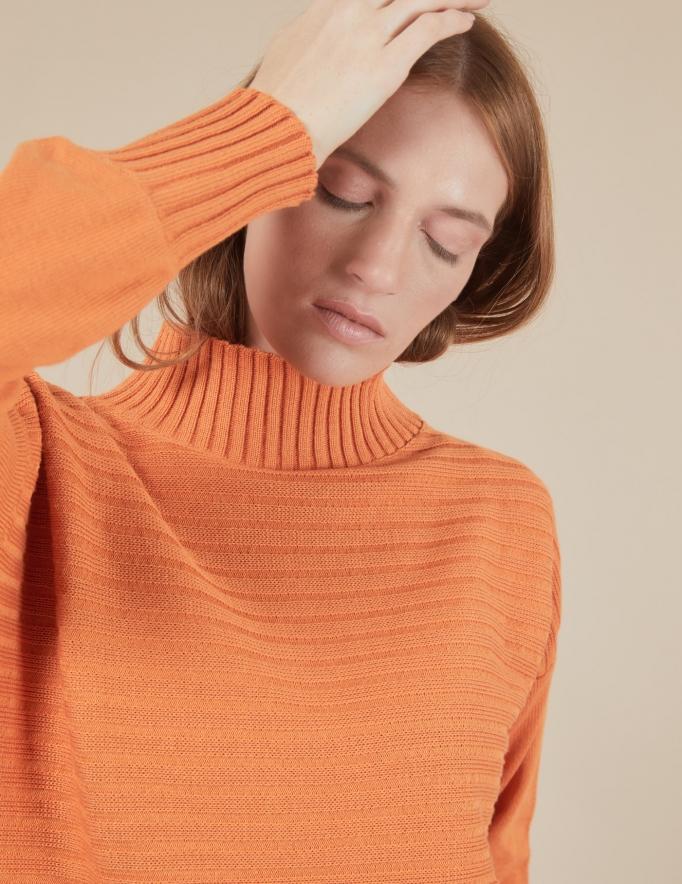 Alef Alef | אלף אלף - בגדי מעצבים | סוודר Pedro כתום