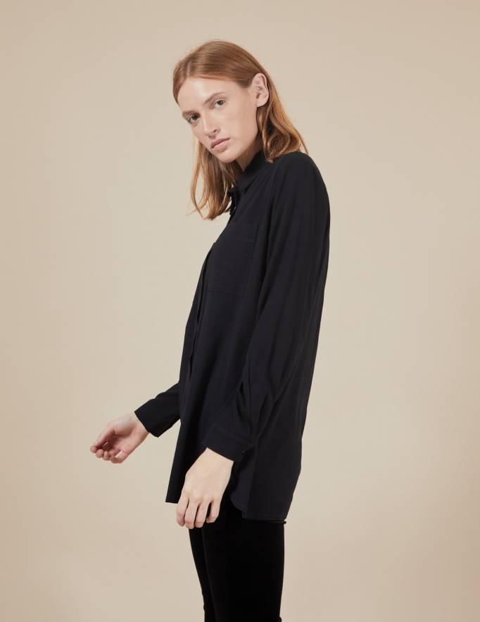 Alef Alef   אלף אלף - בגדי מעצבים   חולצת Joan   שחור