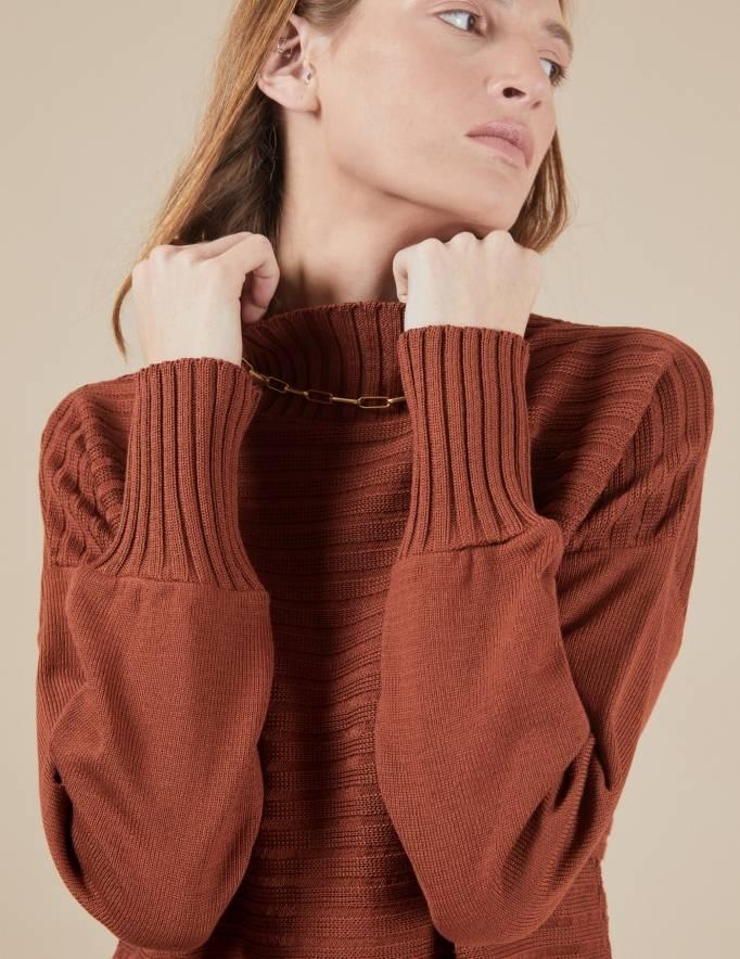 Alef Alef   אלף אלף - בגדי מעצבים   סוודר Pedro חמרה