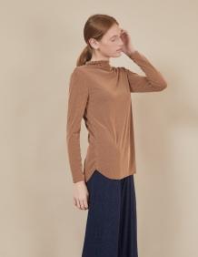 Alef Alef | אלף אלף - בגדי מעצבים | חולצת Susan | פסים מוקה