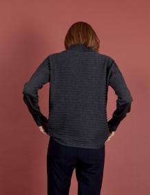 Alef Alef | אלף אלף - בגדי מעצבים | סוודר Pedro אפור כהה