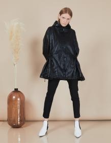 Alef Alef | אלף אלף - בגדי מעצבים | מעיל Victoria | שחור מבריק