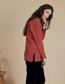 Alef Alef | אלף אלף - בגדי מעצבים | חולצת Angela בורדו