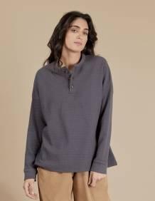 Alef Alef   אלף אלף - בגדי מעצבים   חולצת Greta אפור כהה