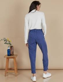 Alef Alef   אלף אלף - בגדי מעצבים   מכנסי Curie נייבי