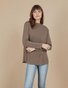 Alef Alef | אלף אלף - בגדי מעצבים | חולצת Susan | אספרסו פסים
