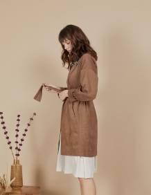 Alef Alef | אלף אלף - בגדי מעצבים | מעיל Nellie קאמל