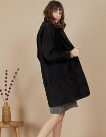 Alef Alef | אלף אלף - בגדי מעצבים | מעיל Nellie שחור