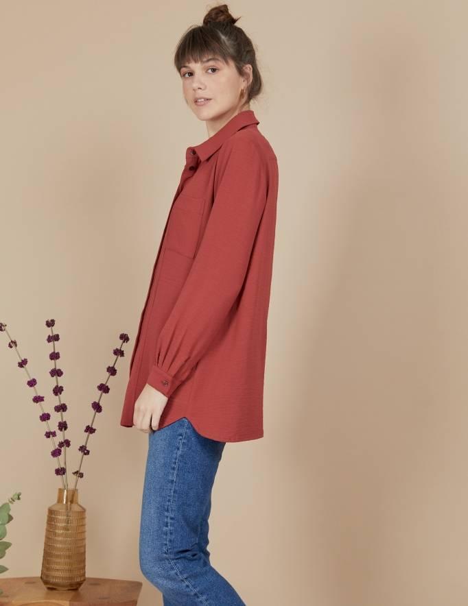 Alef Alef | אלף אלף - בגדי מעצבים | חולצת Joan | בורדו