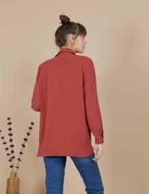 Alef Alef | אלף אלף - בגדי מעצבים | חולצת Joan | אדום