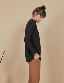 Alef Alef | אלף אלף - בגדי מעצבים | חולצת Susan | שחור פחם