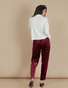 Alef Alef | אלף אלף - בגדי מעצבים | מכנסי Katya בורדו