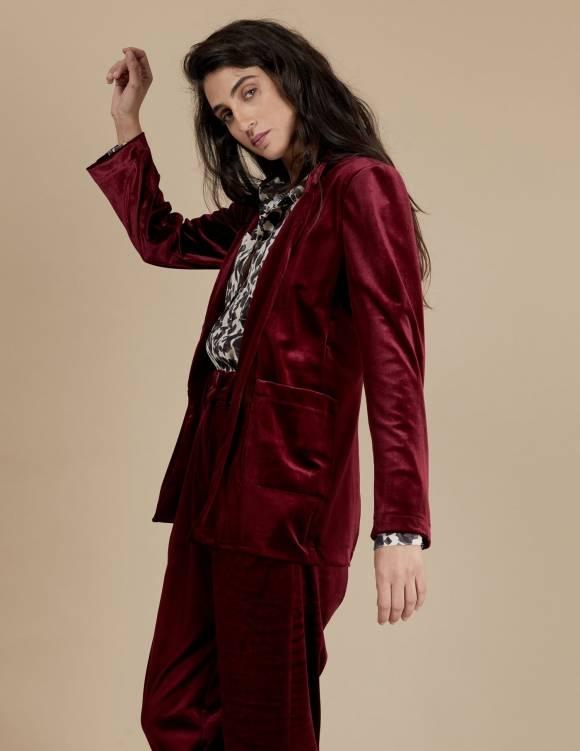Alef Alef | אלף אלף - בגדי מעצבים | ז'קט Maria בורדו